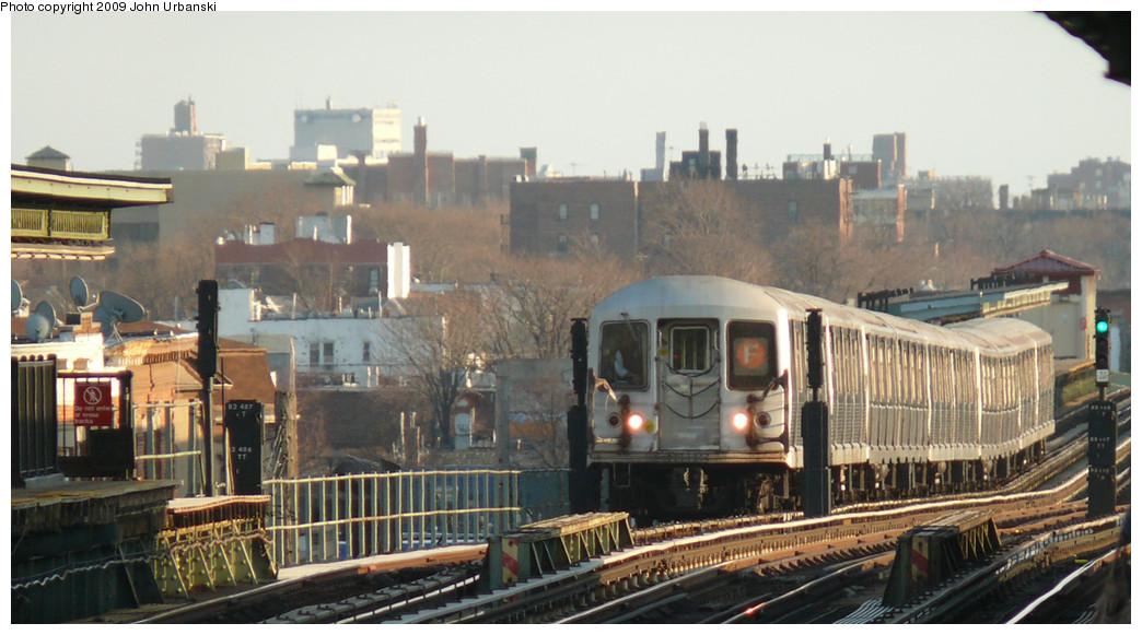 (223k, 1044x581)<br><b>Country:</b> United States<br><b>City:</b> New York<br><b>System:</b> New York City Transit<br><b>Line:</b> BMT Culver Line<br><b>Location:</b> Avenue I <br><b>Route:</b> F<br><b>Car:</b> R-42 (St. Louis, 1969-1970)  4666 <br><b>Photo by:</b> John Urbanski<br><b>Date:</b> 3/17/2009<br><b>Viewed (this week/total):</b> 1 / 1505