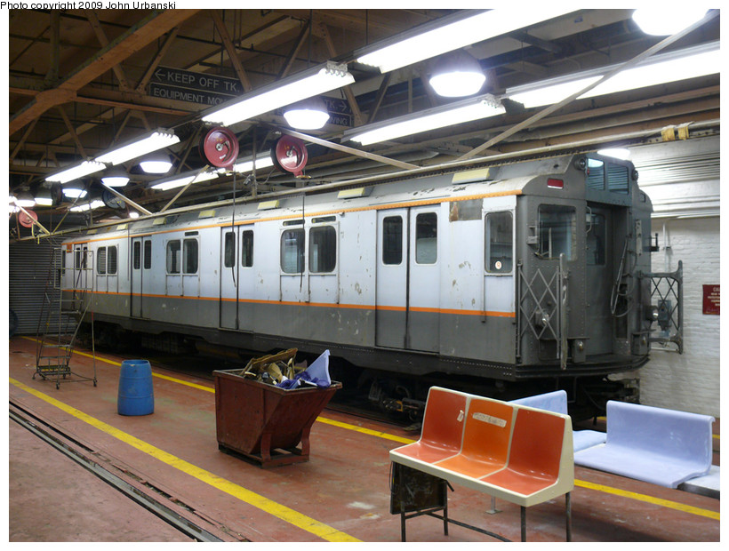 (200k, 820x620)<br><b>Country:</b> United States<br><b>City:</b> New York<br><b>System:</b> New York City Transit<br><b>Location:</b> Coney Island Shop-Paint Shop<br><b>Car:</b> R-7A (Pullman, 1938)  1575 <br><b>Photo by:</b> John Urbanski<br><b>Date:</b> 3/17/2009<br><b>Viewed (this week/total):</b> 2 / 2512
