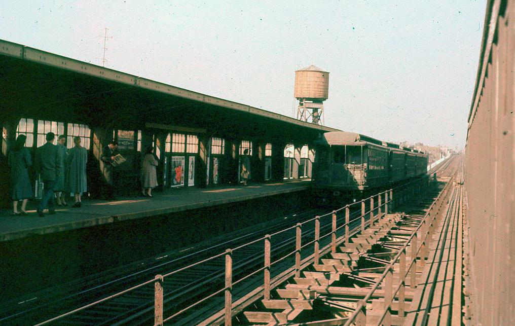 (238k, 1024x672)<br><b>Country:</b> United States<br><b>City:</b> New York<br><b>System:</b> New York City Transit<br><b>Line:</b> BMT Brighton Line<br><b>Location:</b> Ocean Parkway <br><b>Car:</b> SBK Steeplecab 6 <br><b>Collection of:</b> Joel Shanus<br><b>Viewed (this week/total):</b> 2 / 2168