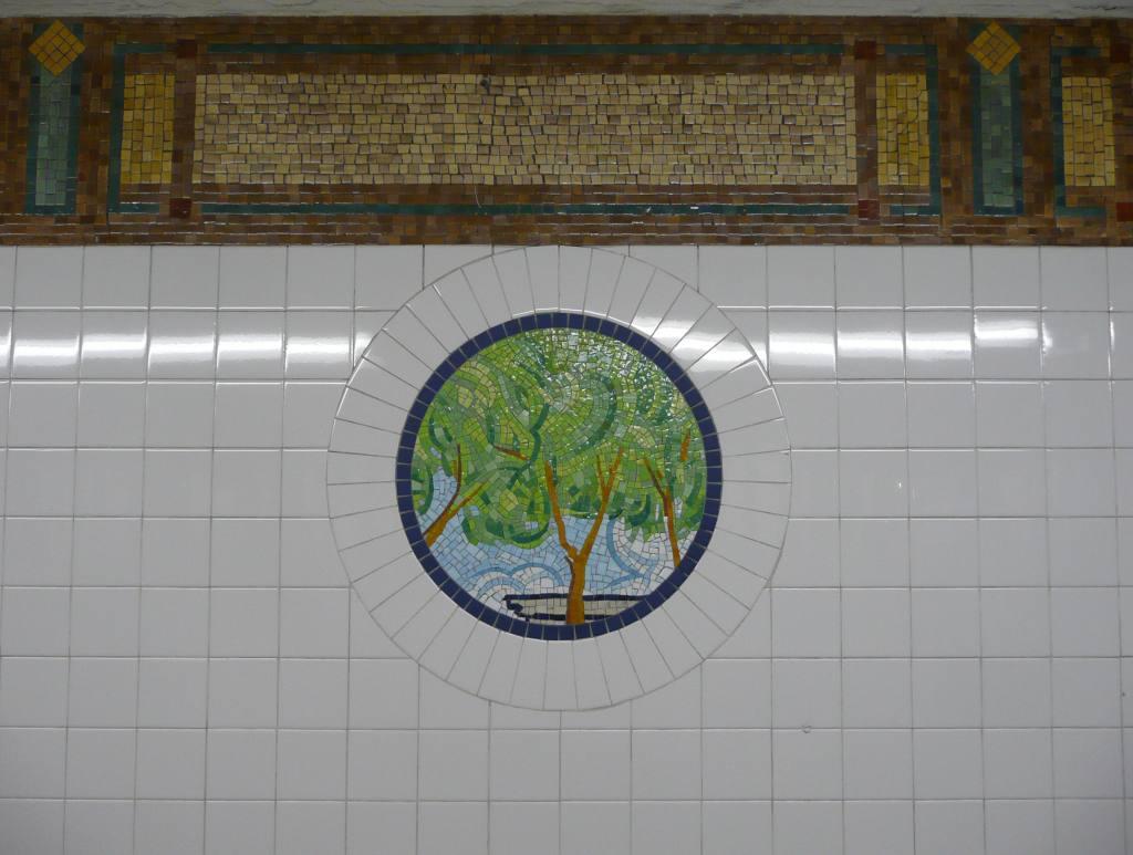 (83k, 1024x773)<br><b>Country:</b> United States<br><b>City:</b> New York<br><b>System:</b> New York City Transit<br><b>Line:</b> BMT Broadway Line<br><b>Location:</b> 8th Street <br><b>Photo by:</b> Robbie Rosenfeld<br><b>Date:</b> 3/16/2009<br><b>Artwork:</b> <i>Broadway Diary</i>, Tim Snell (2002).<br><b>Viewed (this week/total):</b> 1 / 877