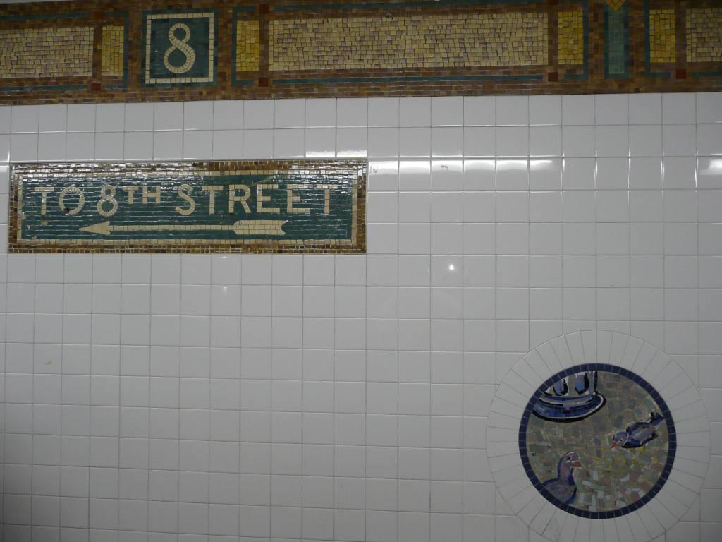 (103k, 1024x768)<br><b>Country:</b> United States<br><b>City:</b> New York<br><b>System:</b> New York City Transit<br><b>Line:</b> BMT Broadway Line<br><b>Location:</b> 8th Street <br><b>Photo by:</b> Robbie Rosenfeld<br><b>Date:</b> 3/16/2009<br><b>Artwork:</b> <i>Broadway Diary</i>, Tim Snell (2002).<br><b>Viewed (this week/total):</b> 1 / 881