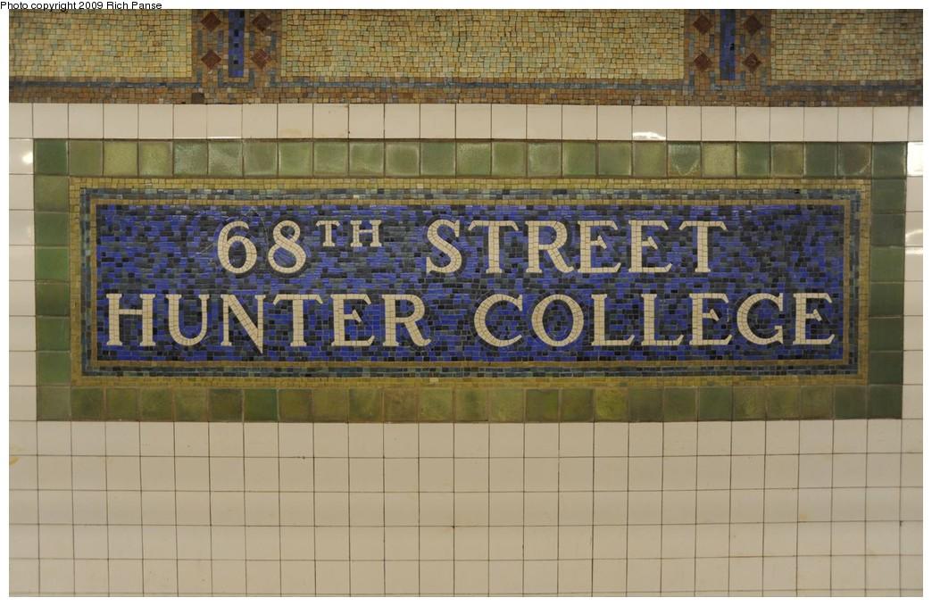 (187k, 1044x679)<br><b>Country:</b> United States<br><b>City:</b> New York<br><b>System:</b> New York City Transit<br><b>Line:</b> IRT East Side Line<br><b>Location:</b> 68th Street <br><b>Photo by:</b> Richard Panse<br><b>Date:</b> 3/17/2009<br><b>Viewed (this week/total):</b> 4 / 1358