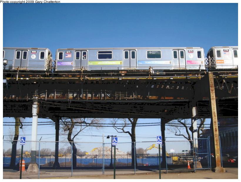 (145k, 820x620)<br><b>Country:</b> United States<br><b>City:</b> New York<br><b>System:</b> New York City Transit<br><b>Line:</b> IRT Flushing Line<br><b>Location:</b> Willets Point/Mets (fmr. Shea Stadium) <br><b>Route:</b> 7<br><b>Car:</b> R-62A (Bombardier, 1984-1987)  1670 <br><b>Photo by:</b> Gary Chatterton<br><b>Date:</b> 3/21/2009<br><b>Viewed (this week/total):</b> 0 / 1119
