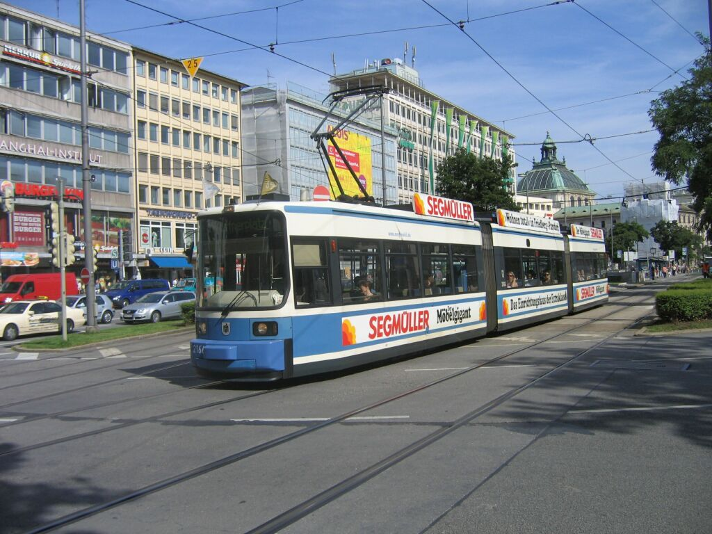 (151k, 1024x768)<br><b>Country:</b> Germany<br><b>City:</b> Munich<br><b>System:</b> MVG (Munchener Verkehrsgesellschaft)<br><b>Location:</b> Sonnenstrasse <br><b>Route:</b> 18<br><b>Car:</b> Amtrak Metroliner 2166  <br><b>Photo by:</b> Jos Straathof<br><b>Date:</b> 8/14/2008<br><b>Viewed (this week/total):</b> 0 / 392