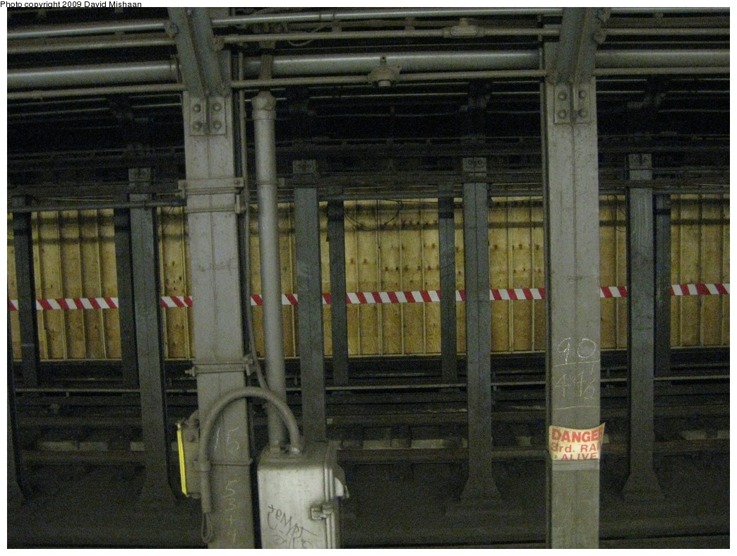 (227k, 1044x788)<br><b>Country:</b> United States<br><b>City:</b> New York<br><b>System:</b> New York City Transit<br><b>Line:</b> IRT East Side Line<br><b>Location:</b> Bleecker Street <br><b>Photo by:</b> David M. <br><b>Date:</b> 2/19/2009<br><b>Notes:</b> Northbound platform lengthening for new transfer to Bway/Lafayette.<br><b>Viewed (this week/total):</b> 2 / 2145
