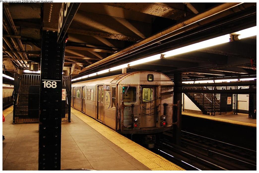 (252k, 1044x699)<br><b>Country:</b> United States<br><b>City:</b> New York<br><b>System:</b> New York City Transit<br><b>Line:</b> IND 8th Avenue Line<br><b>Location:</b> 168th Street <br><b>Route:</b> C<br><b>Car:</b> R-32 (Budd, 1964)  3872 <br><b>Photo by:</b> Michael Hodurski<br><b>Date:</b> 3/22/2008<br><b>Viewed (this week/total):</b> 0 / 1226