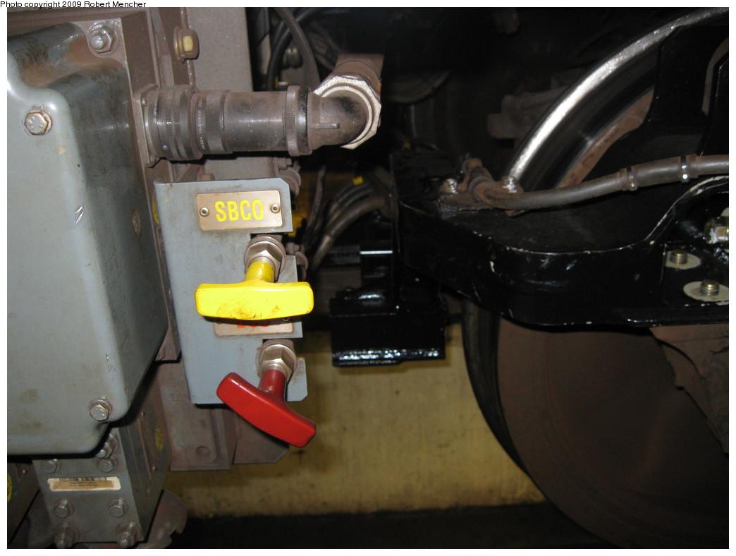 (164k, 1044x788)<br><b>Country:</b> United States<br><b>City:</b> New York<br><b>System:</b> New York City Transit<br><b>Location:</b> East New York Yard/Shops<br><b>Car:</b> R-160A-1 (Alstom, 2005-2008, 4 car sets)  8313 <br><b>Photo by:</b> Robert Mencher<br><b>Date:</b> 3/23/2009<br><b>Notes:</b> CBTC equipment.<br><b>Viewed (this week/total):</b> 0 / 1438