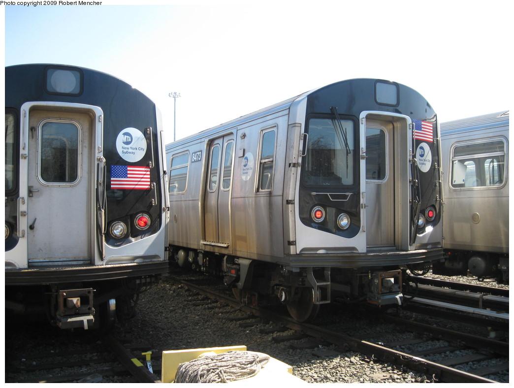 (194k, 1044x788)<br><b>Country:</b> United States<br><b>City:</b> New York<br><b>System:</b> New York City Transit<br><b>Location:</b> East New York Yard/Shops<br><b>Car:</b> R-160A-1 (Alstom, 2005-2008, 4 car sets)  8473 <br><b>Photo by:</b> Robert Mencher<br><b>Date:</b> 3/23/2009<br><b>Viewed (this week/total):</b> 0 / 834