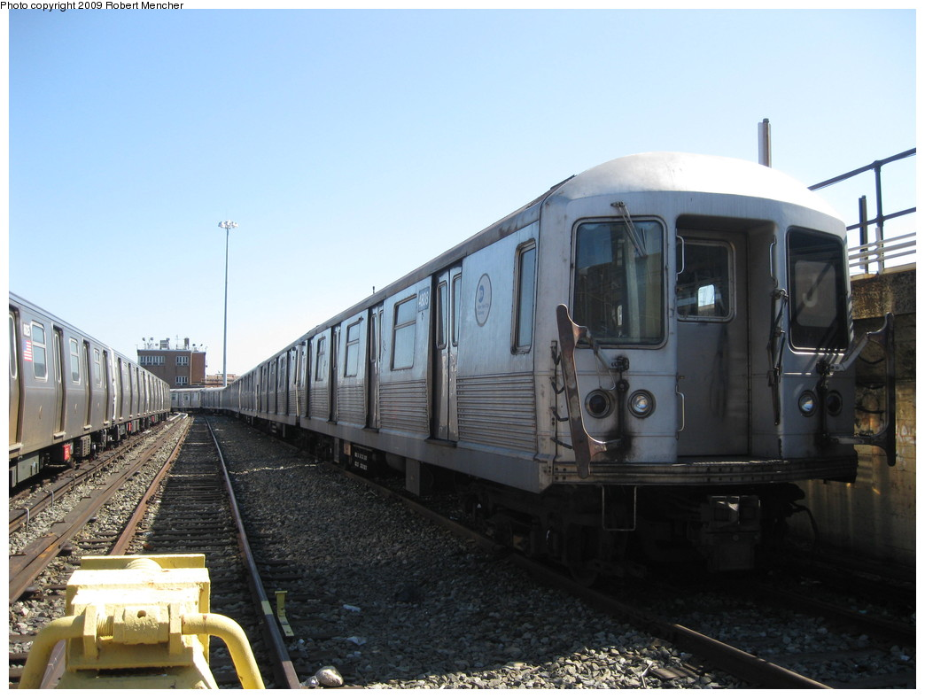 (191k, 1044x788)<br><b>Country:</b> United States<br><b>City:</b> New York<br><b>System:</b> New York City Transit<br><b>Location:</b> East New York Yard/Shops<br><b>Car:</b> R-42 (St. Louis, 1969-1970)  4808 <br><b>Photo by:</b> Robert Mencher<br><b>Date:</b> 3/23/2009<br><b>Viewed (this week/total):</b> 0 / 806