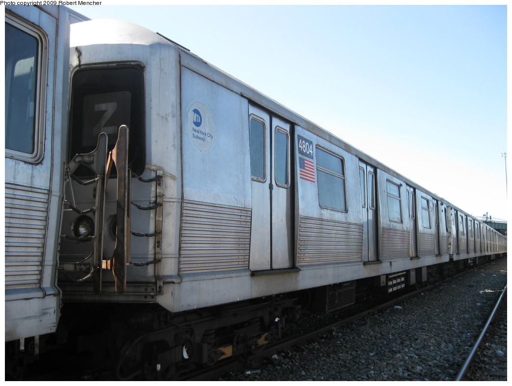 (182k, 1044x788)<br><b>Country:</b> United States<br><b>City:</b> New York<br><b>System:</b> New York City Transit<br><b>Location:</b> East New York Yard/Shops<br><b>Car:</b> R-42 (St. Louis, 1969-1970)  4804 <br><b>Photo by:</b> Robert Mencher<br><b>Date:</b> 3/23/2009<br><b>Viewed (this week/total):</b> 0 / 674