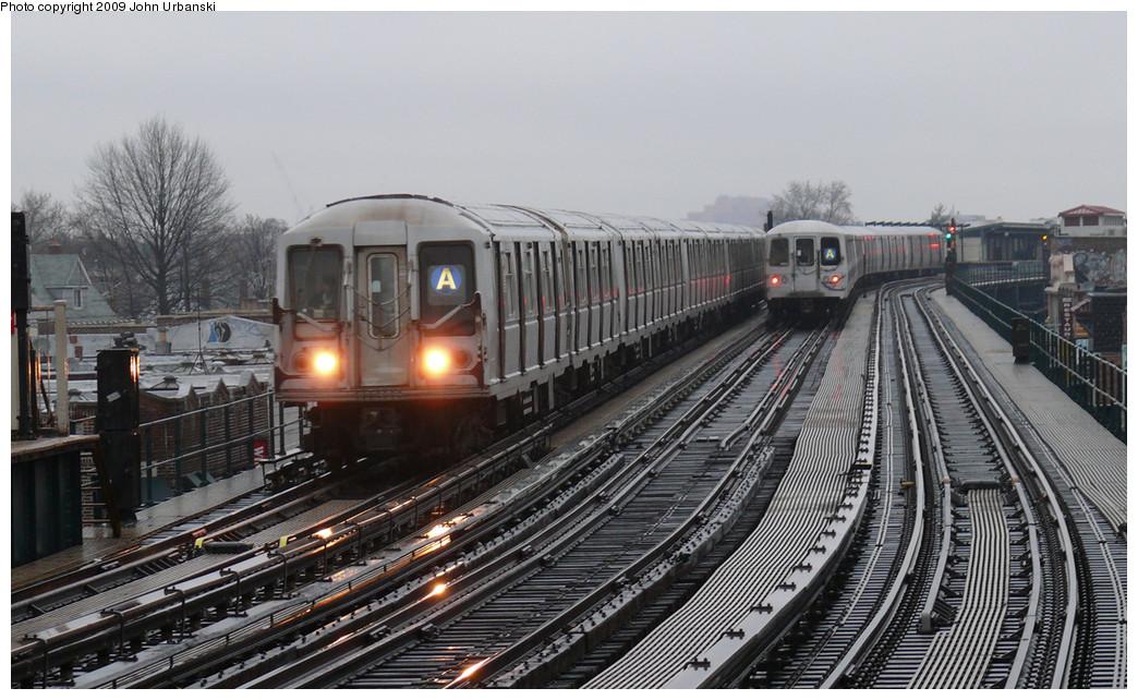 (258k, 1044x642)<br><b>Country:</b> United States<br><b>City:</b> New York<br><b>System:</b> New York City Transit<br><b>Line:</b> IND Fulton Street Line<br><b>Location:</b> 104th Street/Oxford Ave. <br><b>Route:</b> A<br><b>Car:</b> R-40 (St. Louis, 1968)  4294 <br><b>Photo by:</b> John Urbanski<br><b>Date:</b> 3/26/2009<br><b>Viewed (this week/total):</b> 1 / 1977