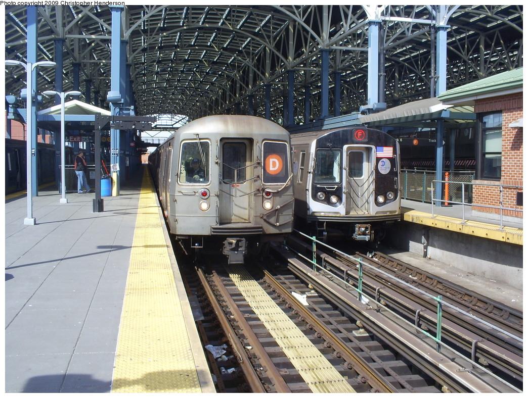 (349k, 1044x788)<br><b>Country:</b> United States<br><b>City:</b> New York<br><b>System:</b> New York City Transit<br><b>Location:</b> Coney Island/Stillwell Avenue<br><b>Route:</b> D<br><b>Car:</b> R-68 (Westinghouse-Amrail, 1986-1988)  2774 <br><b>Photo by:</b> Christopher Henderson<br><b>Date:</b> 3/25/2009<br><b>Notes:</b> With R160A 9247 on F<br><b>Viewed (this week/total):</b> 2 / 1827