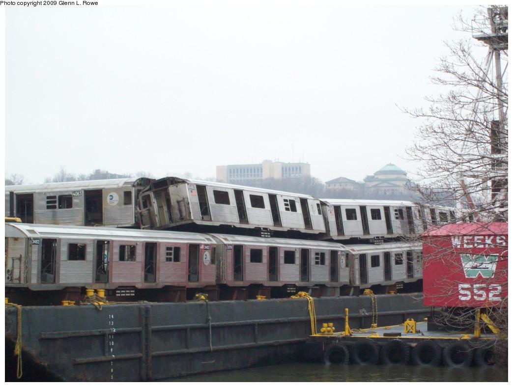 (177k, 1044x788)<br><b>Country:</b> United States<br><b>City:</b> New York<br><b>System:</b> New York City Transit<br><b>Location:</b> 207th Street Yard<br><b>Car:</b> R-38 (St. Louis, 1966-1967)  4063 <br><b>Photo by:</b> Glenn L. Rowe<br><b>Date:</b> 3/26/2009<br><b>Notes:</b> With 4073, 3482, 3379, 4062<br><b>Viewed (this week/total):</b> 0 / 1602