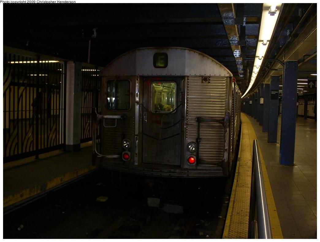 (222k, 1044x788)<br><b>Country:</b> United States<br><b>City:</b> New York<br><b>System:</b> New York City Transit<br><b>Line:</b> IND 8th Avenue Line<br><b>Location:</b> Chambers Street/World Trade Center <br><b>Route:</b> E<br><b>Car:</b> R-32 (Budd, 1964)  3756 <br><b>Photo by:</b> Christopher Henderson<br><b>Date:</b> 3/29/2009<br><b>Viewed (this week/total):</b> 0 / 1310