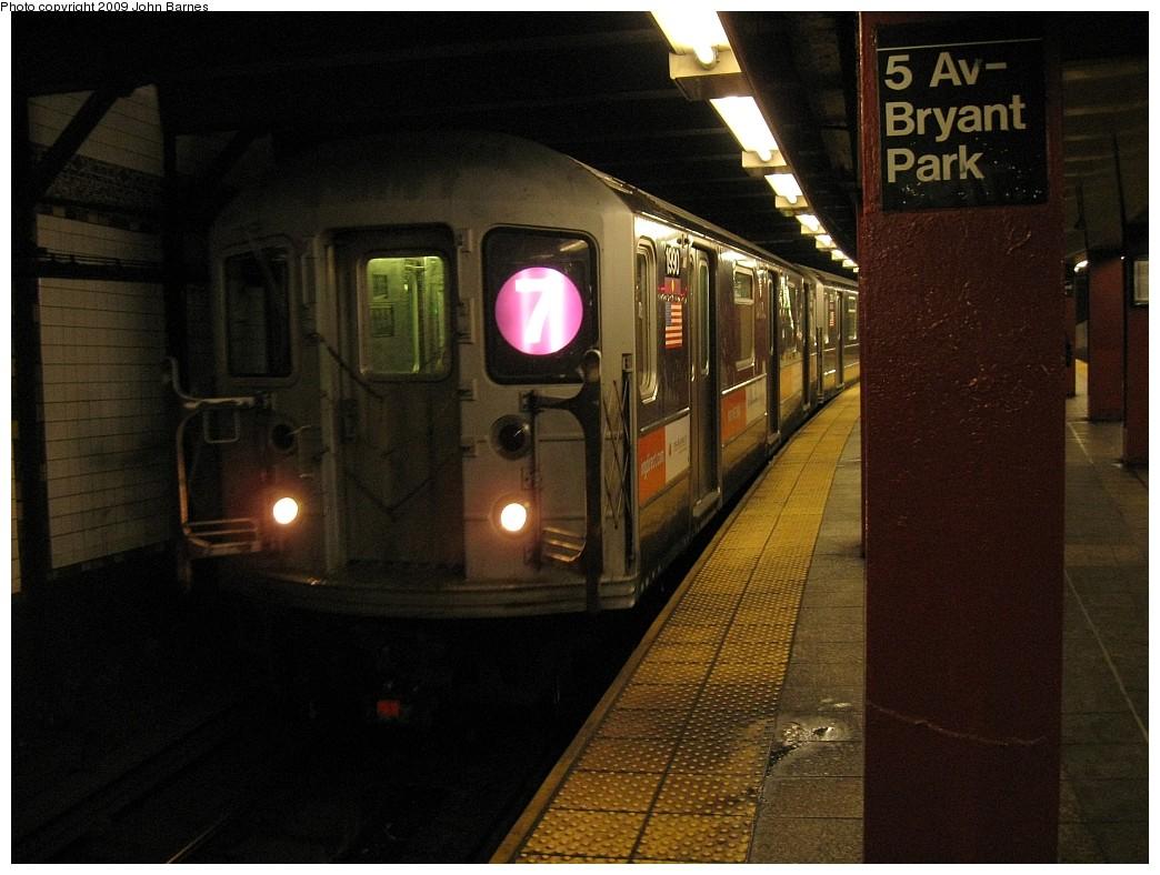 (208k, 1044x788)<br><b>Country:</b> United States<br><b>City:</b> New York<br><b>System:</b> New York City Transit<br><b>Line:</b> IRT Flushing Line<br><b>Location:</b> 5th Avenue <br><b>Route:</b> 7<br><b>Car:</b> R-62A (Bombardier, 1984-1987)  1990 <br><b>Photo by:</b> John Barnes<br><b>Date:</b> 3/26/2009<br><b>Viewed (this week/total):</b> 0 / 1773