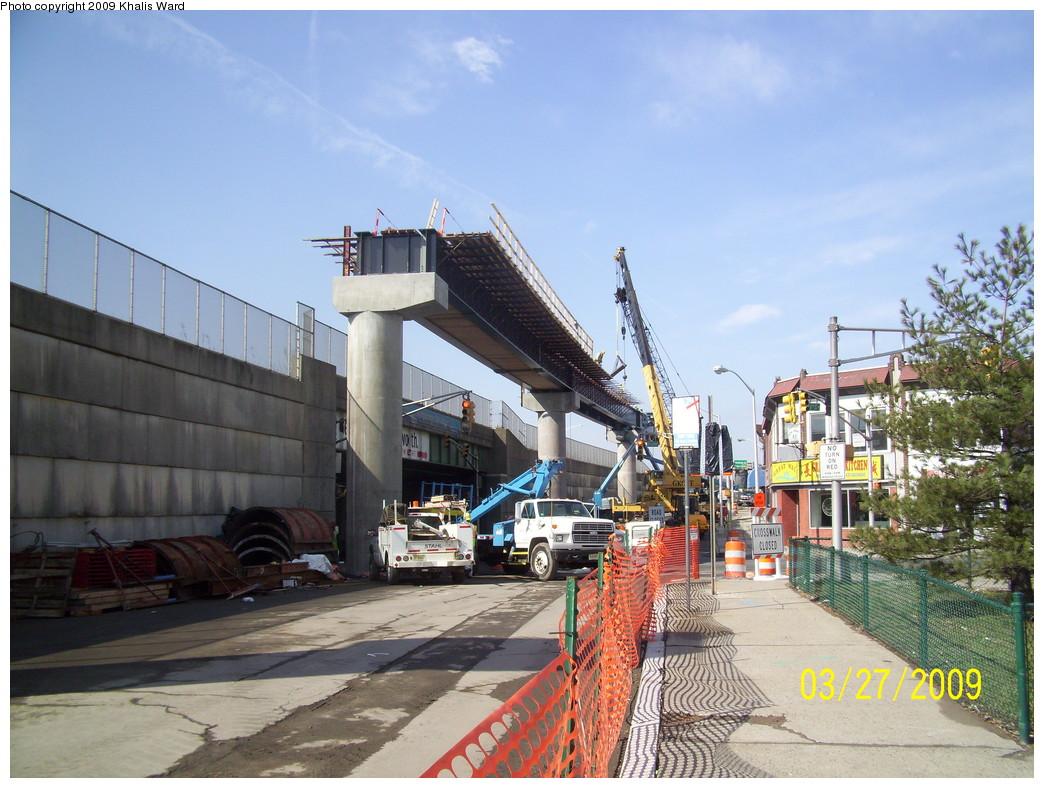 (257k, 1044x788)<br><b>Country:</b> United States<br><b>City:</b> Jersey City, NJ<br><b>System:</b> Hudson Bergen Light Rail<br><b>Location:</b> Bayonne 8th Street <br><b>Photo by:</b> Khalis Ward<br><b>Date:</b> 3/27/2009<br><b>Notes:</b> 8th Street extension construction.<br><b>Viewed (this week/total):</b> 2 / 808