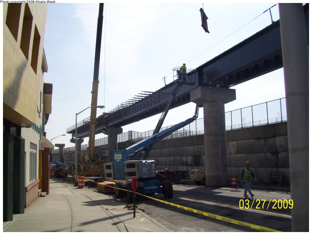 (203k, 1044x788)<br><b>Country:</b> United States<br><b>City:</b> Jersey City, NJ<br><b>System:</b> Hudson Bergen Light Rail<br><b>Location:</b> Bayonne 8th Street <br><b>Photo by:</b> Khalis Ward<br><b>Date:</b> 3/27/2009<br><b>Notes:</b> 8th Street extension construction.<br><b>Viewed (this week/total):</b> 0 / 693