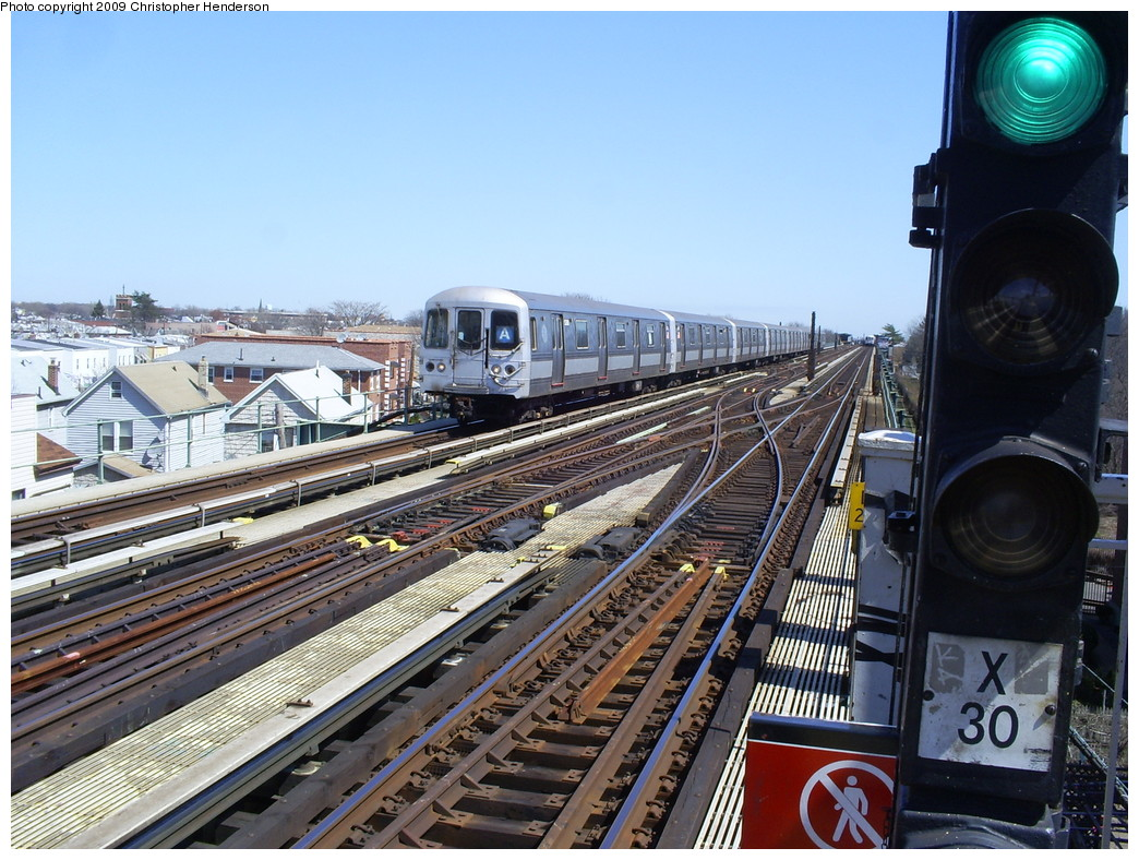 (302k, 1044x788)<br><b>Country:</b> United States<br><b>City:</b> New York<br><b>System:</b> New York City Transit<br><b>Line:</b> IND Fulton Street Line<br><b>Location:</b> 80th Street/Hudson Street <br><b>Route:</b> A<br><b>Car:</b> R-44 (St. Louis, 1971-73) 5266 <br><b>Photo by:</b> Christopher Henderson<br><b>Date:</b> 3/30/2009<br><b>Viewed (this week/total):</b> 0 / 954