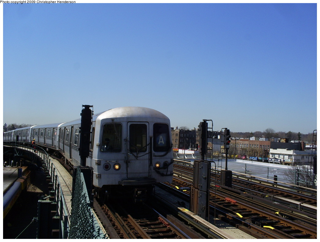 (233k, 1044x788)<br><b>Country:</b> United States<br><b>City:</b> New York<br><b>System:</b> New York City Transit<br><b>Line:</b> IND Fulton Street Line<br><b>Location:</b> 80th Street/Hudson Street <br><b>Route:</b> A<br><b>Car:</b> R-44 (St. Louis, 1971-73) 5380 <br><b>Photo by:</b> Christopher Henderson<br><b>Date:</b> 3/30/2009<br><b>Viewed (this week/total):</b> 0 / 980