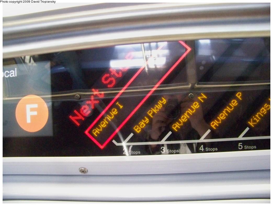 (190k, 1044x788)<br><b>Country:</b> United States<br><b>City:</b> New York<br><b>System:</b> New York City Transit<br><b>Route:</b> F<br><b>Car:</b> R-160A (Option 1) (Alstom, 2008-2009, 5 car sets)  9239 <br><b>Photo by:</b> David Tropiansky<br><b>Date:</b> 3/25/2009<br><b>Viewed (this week/total):</b> 0 / 1015