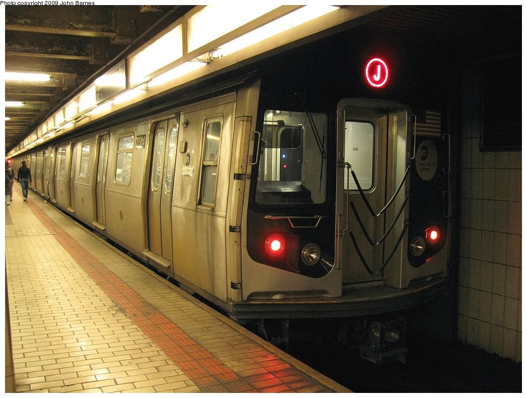 (243k, 1044x788)<br><b>Country:</b> United States<br><b>City:</b> New York<br><b>System:</b> New York City Transit<br><b>Line:</b> BMT Nassau Street/Jamaica Line<br><b>Location:</b> Sutphin Blvd.-Archer Ave./JFK <br><b>Route:</b> J<br><b>Car:</b> R-160A-1 (Alstom, 2005-2008, 4 car sets)  8584 <br><b>Photo by:</b> John Barnes<br><b>Date:</b> 3/31/2009<br><b>Viewed (this week/total):</b> 0 / 1607