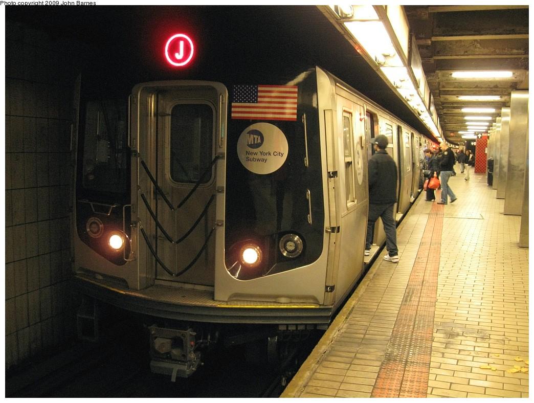 (243k, 1044x788)<br><b>Country:</b> United States<br><b>City:</b> New York<br><b>System:</b> New York City Transit<br><b>Line:</b> BMT Nassau Street/Jamaica Line<br><b>Location:</b> Sutphin Blvd.-Archer Ave./JFK <br><b>Route:</b> J<br><b>Car:</b> R-160A-1 (Alstom, 2005-2008, 4 car sets)  8325 <br><b>Photo by:</b> John Barnes<br><b>Date:</b> 3/31/2009<br><b>Viewed (this week/total):</b> 0 / 1467