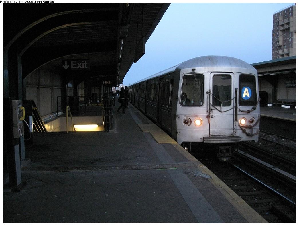 (211k, 1044x788)<br><b>Country:</b> United States<br><b>City:</b> New York<br><b>System:</b> New York City Transit<br><b>Line:</b> IND Rockaway<br><b>Location:</b> Beach 60th Street/Straiton <br><b>Route:</b> A<br><b>Car:</b> R-44 (St. Louis, 1971-73) 5212 <br><b>Photo by:</b> John Barnes<br><b>Date:</b> 3/31/2009<br><b>Viewed (this week/total):</b> 3 / 1200