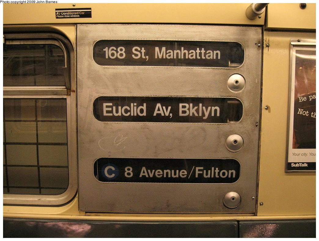 (281k, 1044x788)<br><b>Country:</b> United States<br><b>City:</b> New York<br><b>System:</b> New York City Transit<br><b>Line:</b> IND Fulton Street Line<br><b>Location:</b> Euclid Avenue <br><b>Route:</b> C<br><b>Car:</b> R-32 (Budd, 1964)  3924 <br><b>Photo by:</b> John Barnes<br><b>Date:</b> 3/31/2009<br><b>Viewed (this week/total):</b> 7 / 1513