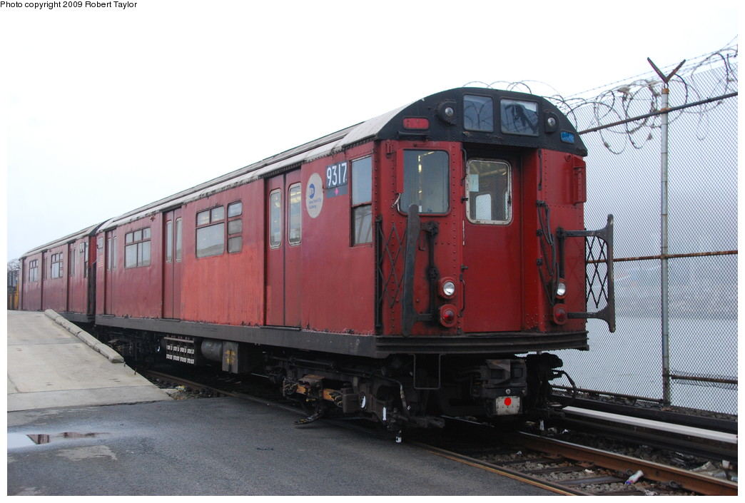 (239k, 1044x705)<br><b>Country:</b> United States<br><b>City:</b> New York<br><b>System:</b> New York City Transit<br><b>Location:</b> 207th Street Yard<br><b>Car:</b> R-33 World's Fair (St. Louis, 1963-64) 9317 <br><b>Photo by:</b> Robert Taylor<br><b>Date:</b> 3/29/2009<br><b>Viewed (this week/total):</b> 0 / 1065