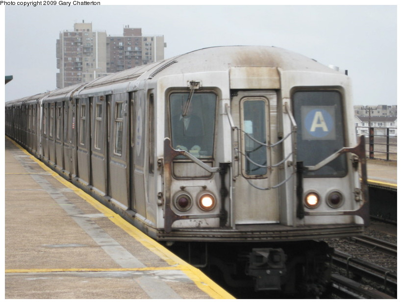 (111k, 820x620)<br><b>Country:</b> United States<br><b>City:</b> New York<br><b>System:</b> New York City Transit<br><b>Line:</b> IND Rockaway<br><b>Location:</b> Beach 67th Street/Gaston Avenue <br><b>Route:</b> A<br><b>Car:</b> R-40 (St. Louis, 1968)  4178 <br><b>Photo by:</b> Gary Chatterton<br><b>Date:</b> 4/1/2009<br><b>Viewed (this week/total):</b> 1 / 993