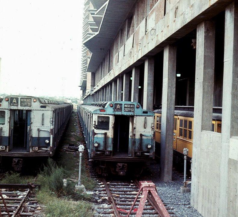 (242k, 791x722)<br><b>Country:</b> United States<br><b>City:</b> New York<br><b>System:</b> New York City Transit<br><b>Location:</b> Pitkin Yard/Shops<br><b>Car:</b> R-10 (American Car & Foundry, 1948)  <br><b>Photo by:</b> Brian J. Cudahy<br><b>Notes:</b> Approx 1970<br><b>Viewed (this week/total):</b> 5 / 3067