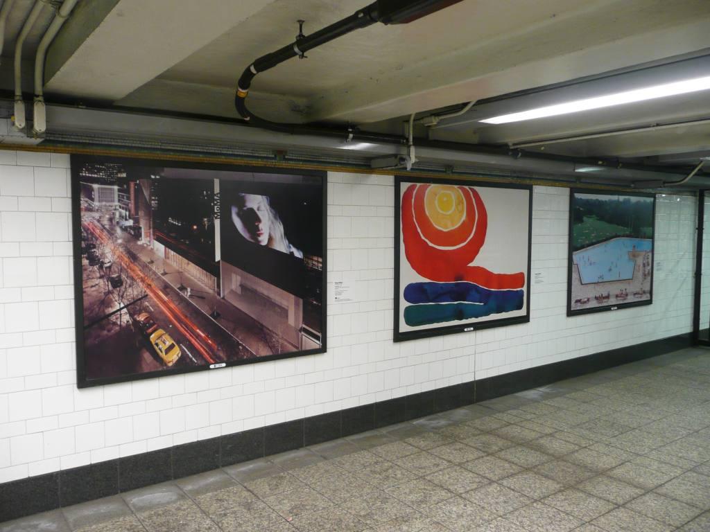 (117k, 1024x768)<br><b>Country:</b> United States<br><b>City:</b> New York<br><b>System:</b> New York City Transit<br><b>Line:</b> IRT Brooklyn Line<br><b>Location:</b> Atlantic Avenue <br><b>Photo by:</b> Robbie Rosenfeld<br><b>Date:</b> 3/12/2009<br><b>Artwork:</b> <i>MoMA Atlantic/Pacific</i>, artist unknown (2009).<br><b>Viewed (this week/total):</b> 1 / 1020