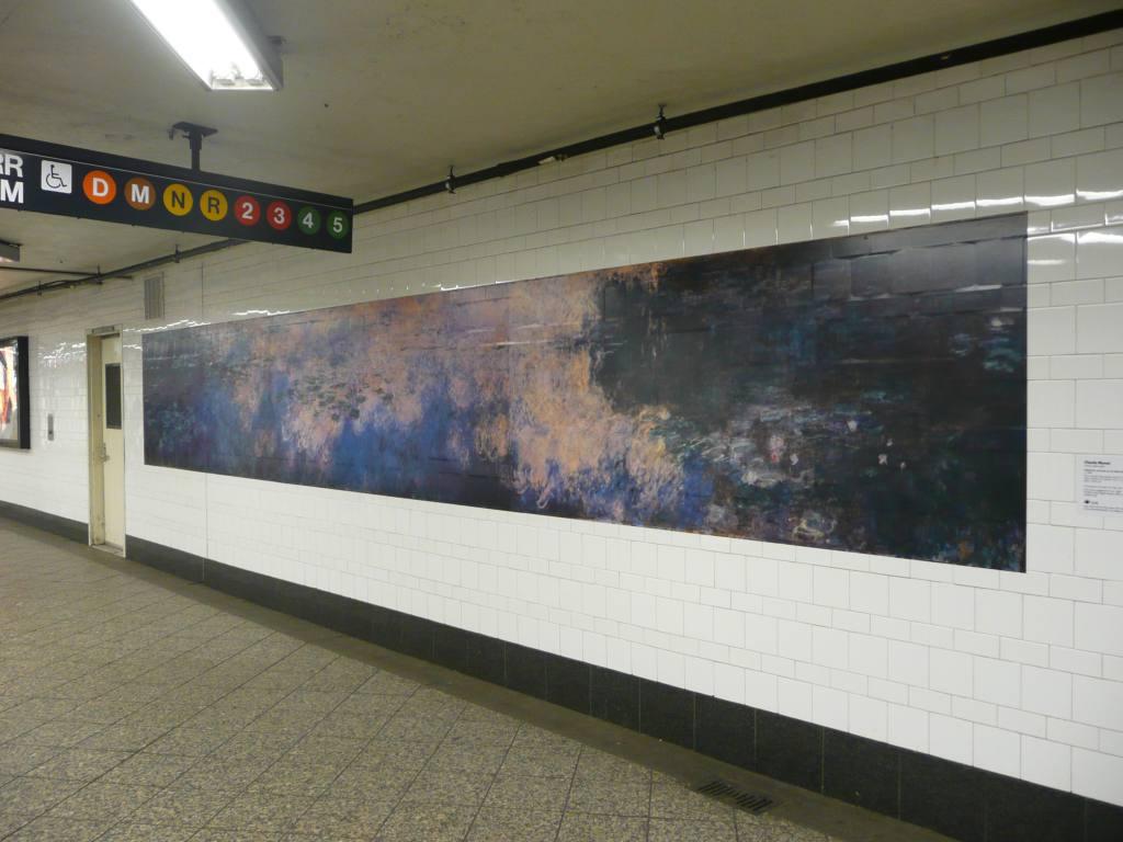 (104k, 1024x768)<br><b>Country:</b> United States<br><b>City:</b> New York<br><b>System:</b> New York City Transit<br><b>Line:</b> IRT Brooklyn Line<br><b>Location:</b> Atlantic Avenue <br><b>Photo by:</b> Robbie Rosenfeld<br><b>Date:</b> 3/12/2009<br><b>Artwork:</b> <i>MoMA Atlantic/Pacific</i>, artist unknown (2009).<br><b>Viewed (this week/total):</b> 1 / 1518