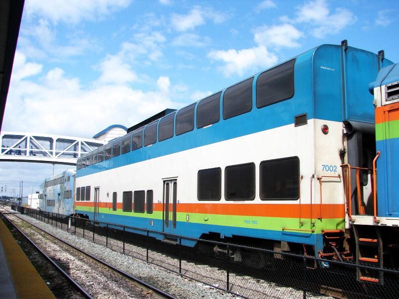 (91k, 800x600)<br><b>Country:</b> United States<br><b>City:</b> Miami, FL<br><b>System:</b> Miami Tri-Rail<br><b>Location:</b> Metrorail Transfer (Metrorail, Amtrak) <br><b>Photo by:</b> Bob Vogel<br><b>Date:</b> 3/6/2009<br><b>Notes:</b> Colorado Railcar TRCX 7002<br><b>Viewed (this week/total):</b> 1 / 1273