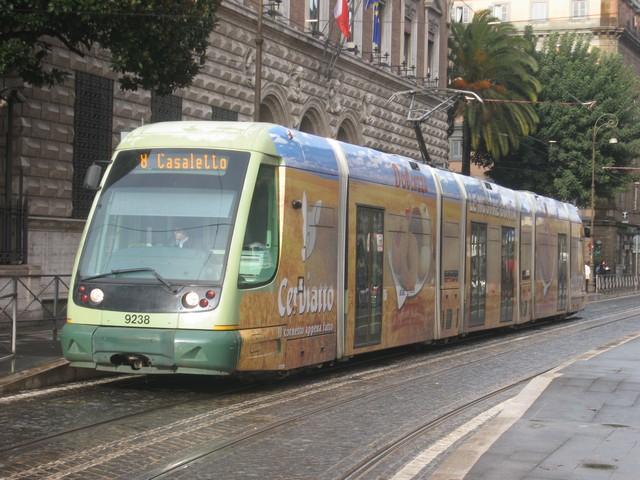 (100k, 640x480)<br><b>Country:</b> Italy<br><b>City:</b> Rome<br><b>System:</b> ATAC<br><b>Location:</b> Via Arenula at Lungotevere de Cenci<br><b>Car:</b> Rome 8-Axle Roma-II (Fiat, 2000-02) 9238 <br><b>Photo by:</b> Oren H.<br><b>Date:</b> 1/13/2008<br><b>Viewed (this week/total):</b> 1 / 487