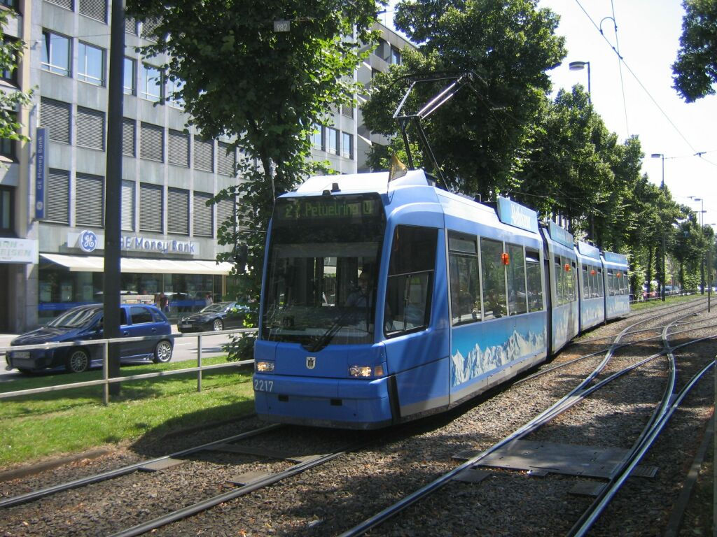 (190k, 1024x768)<br><b>Country:</b> Germany<br><b>City:</b> Munich<br><b>System:</b> MVG (Munchener Verkehrsgesellschaft)<br><b>Location:</b> Sonnenstrasse <br><b>Route:</b> 27<br><b>Car:</b> Adtranz R3.3  2217  <br><b>Photo by:</b> Jos Straathof<br><b>Date:</b> 8/14/2008<br><b>Viewed (this week/total):</b> 0 / 413