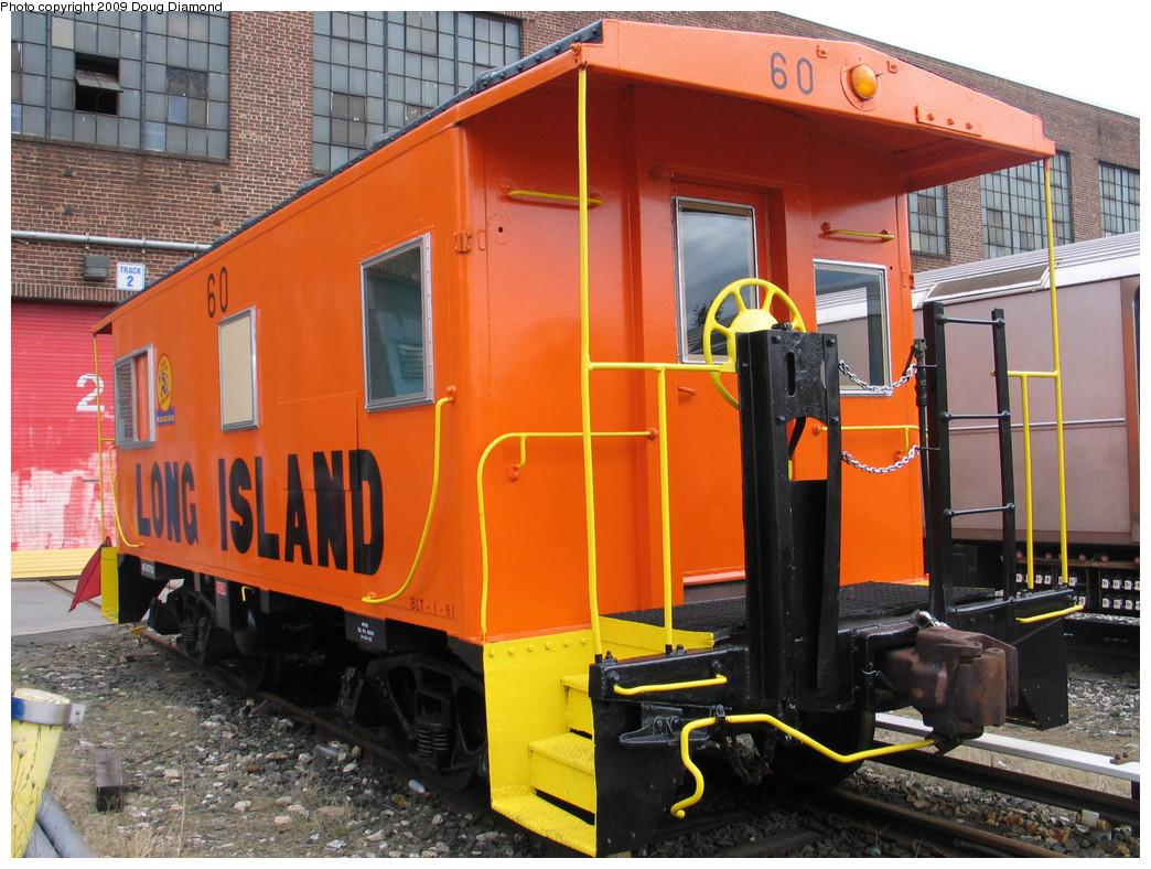 (282k, 1044x788)<br><b>Country:</b> United States<br><b>City:</b> New York<br><b>System:</b> New York City Transit<br><b>Location:</b> 207th Street Yard<br><b>Car:</b> LIRR Caboose 60 <br><b>Photo by:</b> Doug Diamond<br><b>Date:</b> 4/7/2009<br><b>Viewed (this week/total):</b> 0 / 635