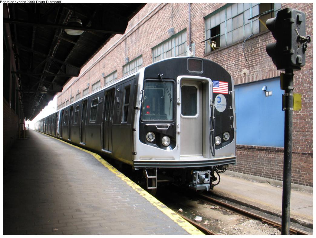(271k, 1044x788)<br><b>Country:</b> United States<br><b>City:</b> New York<br><b>System:</b> New York City Transit<br><b>Location:</b> 207th Street Yard<br><b>Car:</b> R-160A (Option 1) (Alstom, 2008-2009, 5 car sets)  9408 <br><b>Photo by:</b> Doug Diamond<br><b>Date:</b> 4/7/2009<br><b>Viewed (this week/total):</b> 0 / 1437