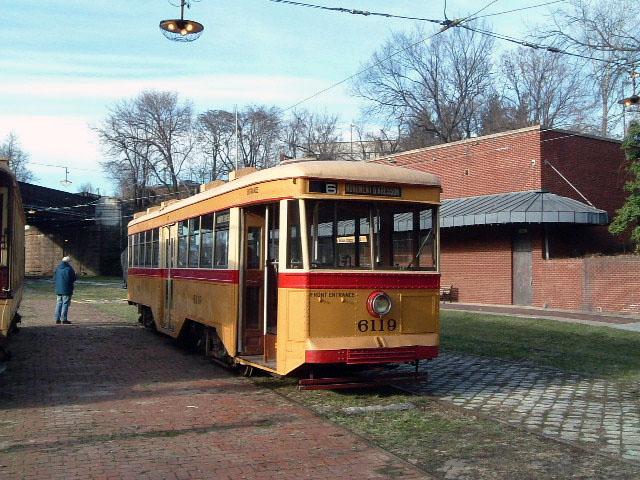 (131k, 640x480)<br><b>Country:</b> United States<br><b>City:</b> Baltimore, MD<br><b>System:</b> Baltimore Streetcar Museum <br><b>Car:</b>  6119 <br><b>Photo by:</b> Brian J. Cudahy<br><b>Date:</b> 1/15/2004<br><b>Viewed (this week/total):</b> 0 / 634