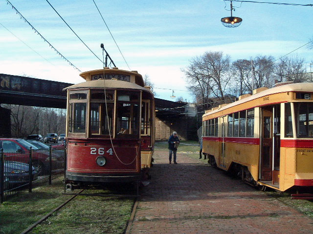(122k, 640x480)<br><b>Country:</b> United States<br><b>City:</b> Baltimore, MD<br><b>System:</b> Baltimore Streetcar Museum <br><b>Car:</b>  264 <br><b>Photo by:</b> Brian J. Cudahy<br><b>Date:</b> 1/15/2004<br><b>Viewed (this week/total):</b> 0 / 548