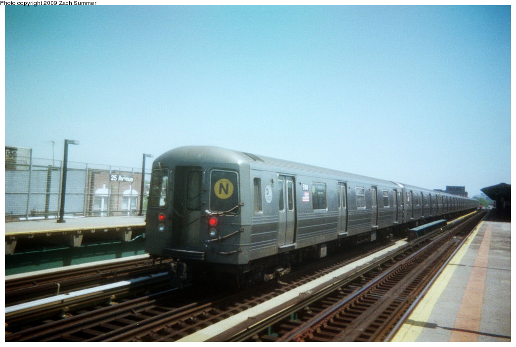 (199k, 1044x703)<br><b>Country:</b> United States<br><b>City:</b> New York<br><b>System:</b> New York City Transit<br><b>Line:</b> BMT West End Line<br><b>Location:</b> 25th Avenue <br><b>Route:</b> N reroute<br><b>Car:</b> R-68A (Kawasaki, 1988-1989)  5168 <br><b>Photo by:</b> Zach Summer<br><b>Date:</b> 5/2006<br><b>Viewed (this week/total):</b> 0 / 1098