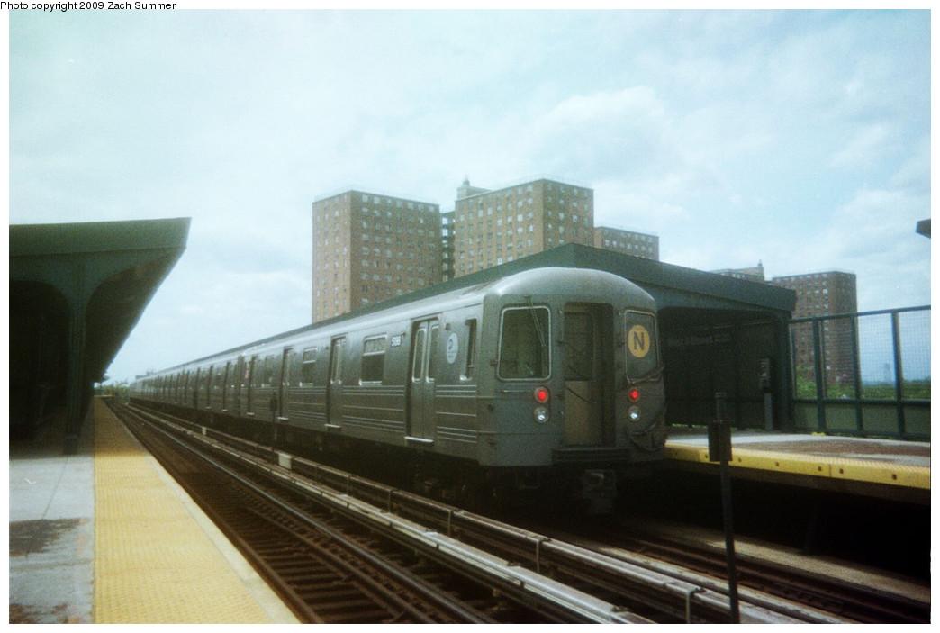 (186k, 1044x703)<br><b>Country:</b> United States<br><b>City:</b> New York<br><b>System:</b> New York City Transit<br><b>Line:</b> BMT Brighton Line<br><b>Location:</b> West 8th Street <br><b>Route:</b> N reroute<br><b>Car:</b> R-68A (Kawasaki, 1988-1989)  5198 <br><b>Photo by:</b> Zach Summer<br><b>Date:</b> 5/2006<br><b>Notes:</b> N extended via Brighton, Stillwell to Kings Highway<br><b>Viewed (this week/total):</b> 0 / 1037