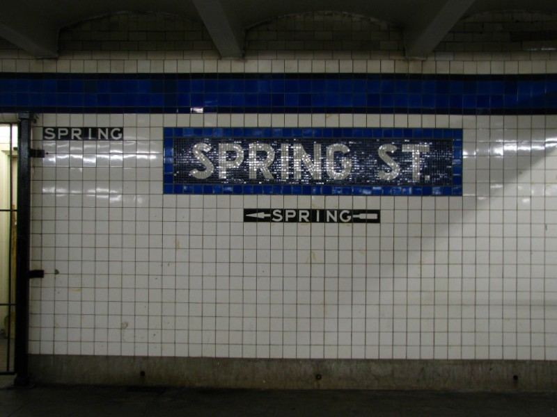 (100k, 800x600)<br><b>Country:</b> United States<br><b>City:</b> New York<br><b>System:</b> New York City Transit<br><b>Line:</b> IND 8th Avenue Line<br><b>Location:</b> Spring Street <br><b>Photo by:</b> Bill E.<br><b>Date:</b> 4/9/2009<br><b>Viewed (this week/total):</b> 1 / 1055