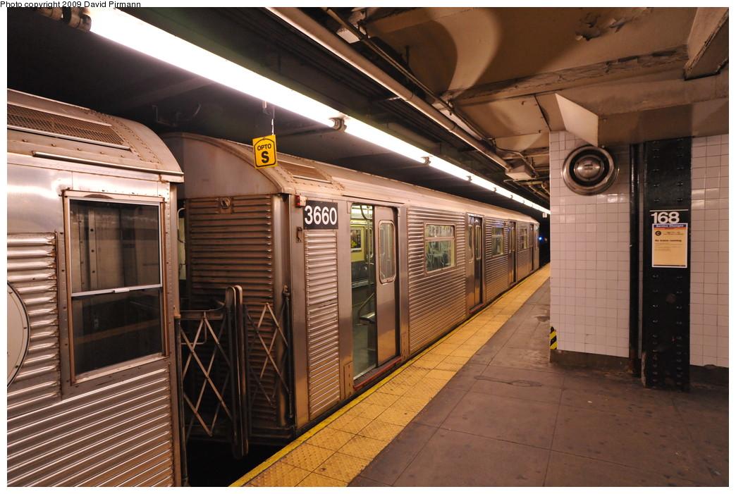 (275k, 1044x701)<br><b>Country:</b> United States<br><b>City:</b> New York<br><b>System:</b> New York City Transit<br><b>Line:</b> IND 8th Avenue Line<br><b>Location:</b> 168th Street <br><b>Route:</b> C<br><b>Car:</b> R-32 (Budd, 1964)  3660 <br><b>Photo by:</b> David Pirmann<br><b>Date:</b> 4/10/2009<br><b>Viewed (this week/total):</b> 0 / 936