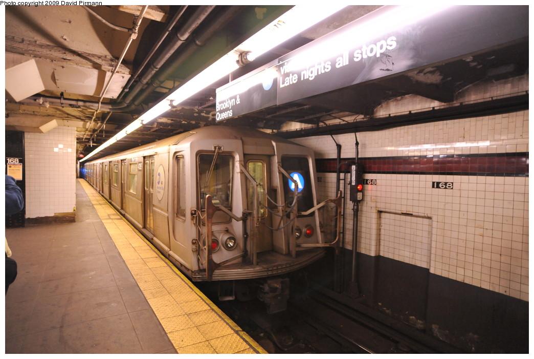 (250k, 1044x701)<br><b>Country:</b> United States<br><b>City:</b> New York<br><b>System:</b> New York City Transit<br><b>Line:</b> IND 8th Avenue Line<br><b>Location:</b> 168th Street <br><b>Route:</b> A<br><b>Car:</b> R-40 (St. Louis, 1968)  4365 <br><b>Photo by:</b> David Pirmann<br><b>Date:</b> 4/10/2009<br><b>Viewed (this week/total):</b> 0 / 1122