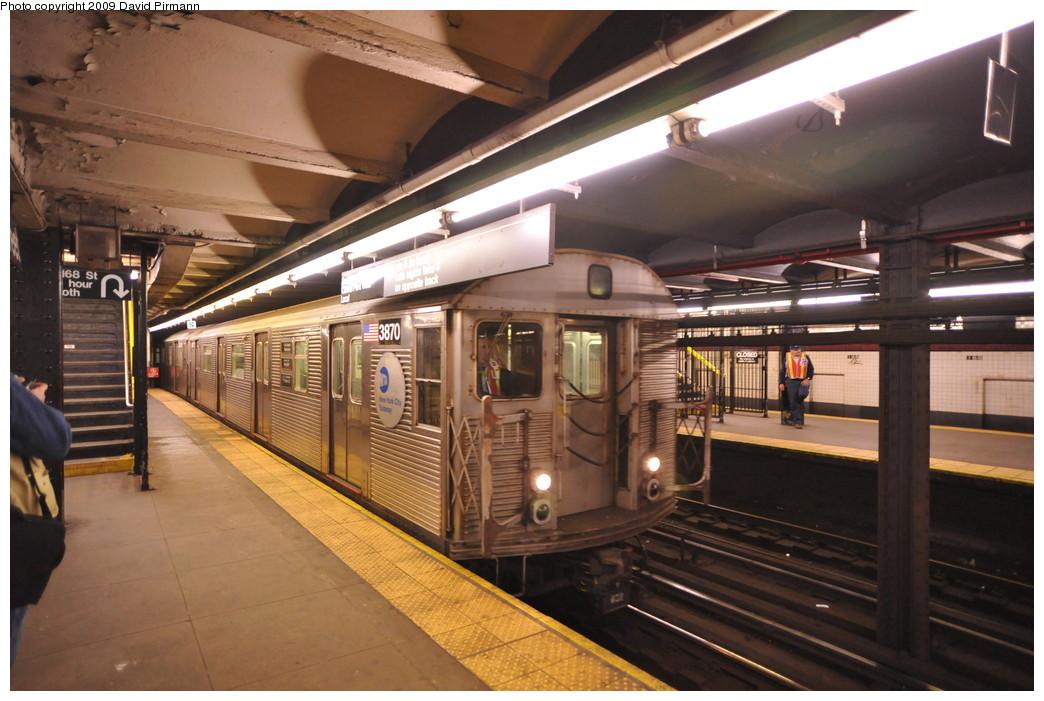 (255k, 1044x701)<br><b>Country:</b> United States<br><b>City:</b> New York<br><b>System:</b> New York City Transit<br><b>Line:</b> IND 8th Avenue Line<br><b>Location:</b> 168th Street <br><b>Route:</b> C<br><b>Car:</b> R-32 (Budd, 1964)  3870 <br><b>Photo by:</b> David Pirmann<br><b>Date:</b> 4/10/2009<br><b>Viewed (this week/total):</b> 2 / 1185