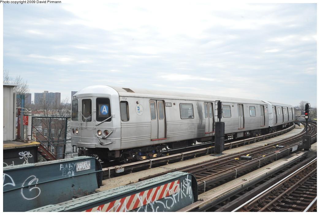 (232k, 1044x701)<br><b>Country:</b> United States<br><b>City:</b> New York<br><b>System:</b> New York City Transit<br><b>Line:</b> IND Fulton Street Line<br><b>Location:</b> 80th Street/Hudson Street <br><b>Route:</b> A<br><b>Car:</b> R-46 (Pullman-Standard, 1974-75) 6166 <br><b>Photo by:</b> David Pirmann<br><b>Date:</b> 4/10/2009<br><b>Viewed (this week/total):</b> 0 / 916