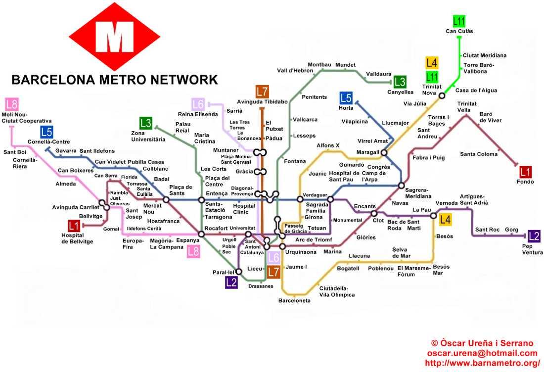 Subway Map Barcelona.World Nycsubway Org Barcelona Spain