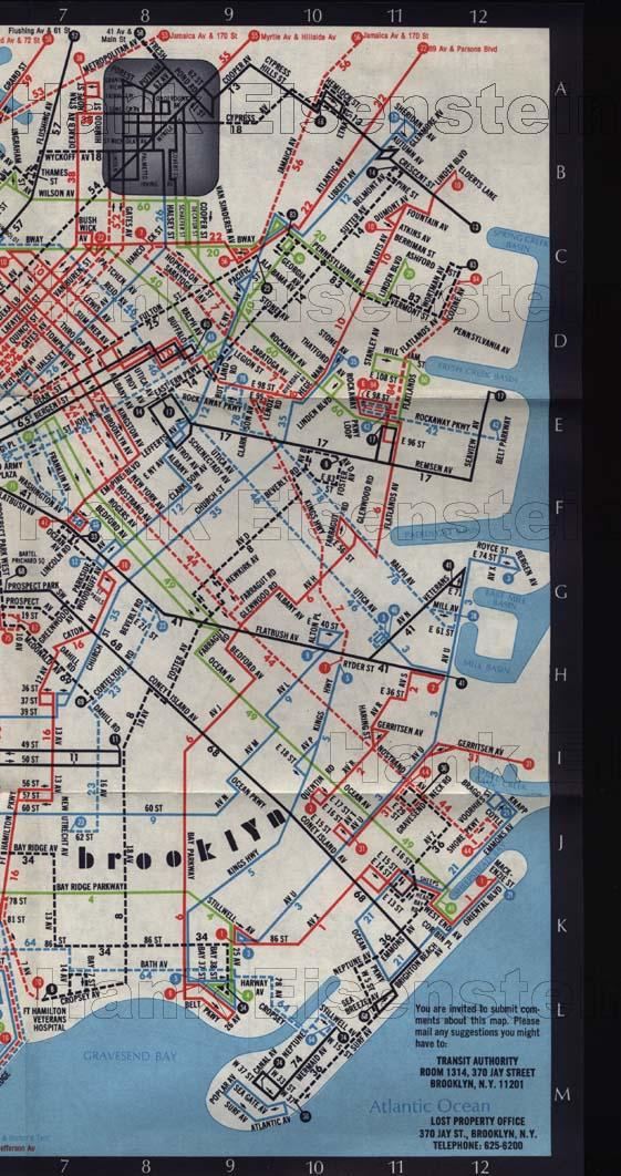 Brooklyn Bus Maps From - Brooklyn bus map