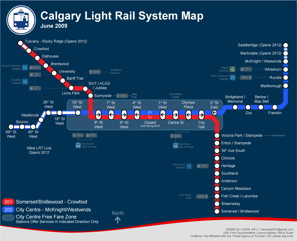 Calgary Subway Map.Nycsubway Org Calgary Alberta